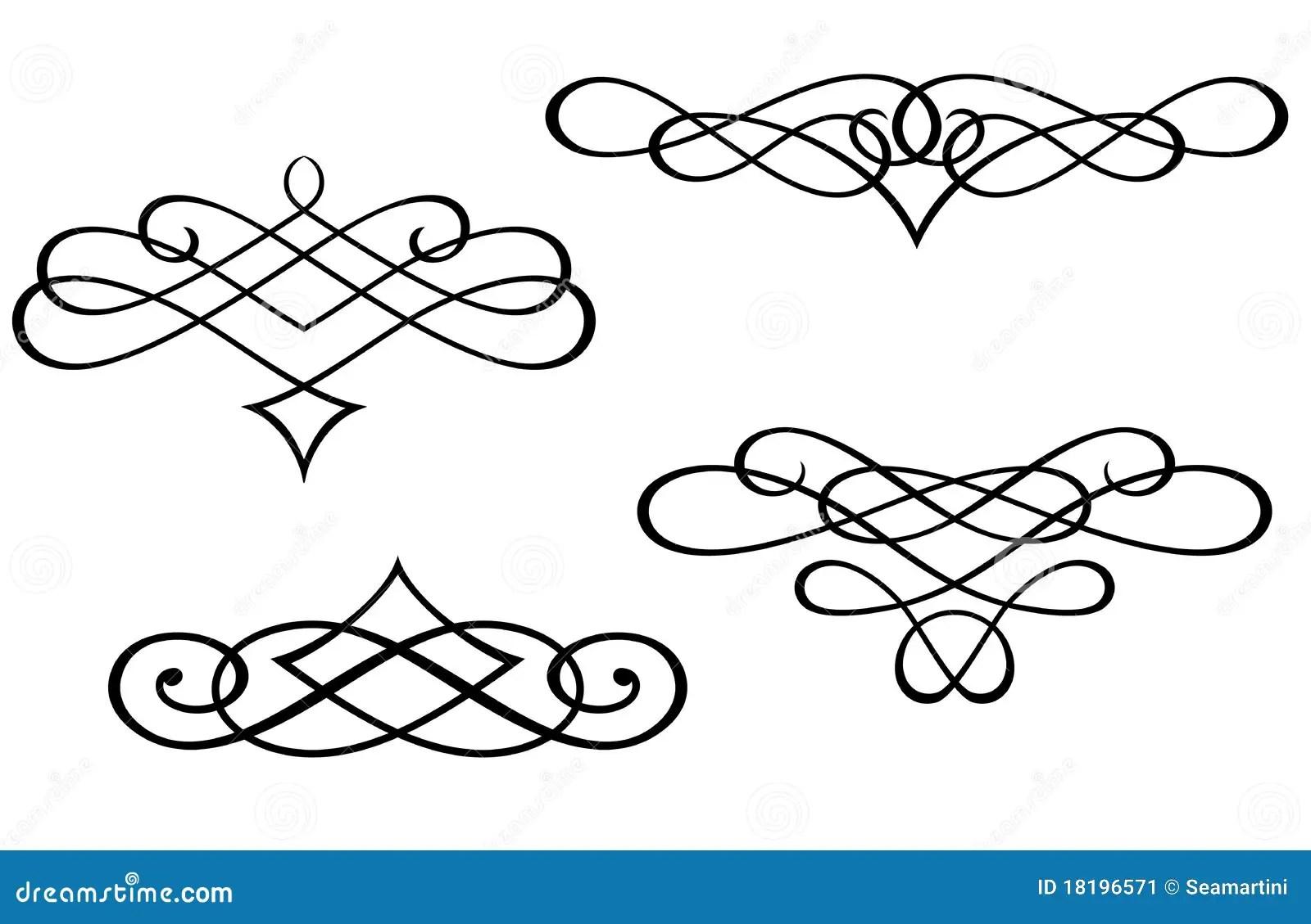 Monogrammi Ed Elementi Di Turbinio Illustrazione