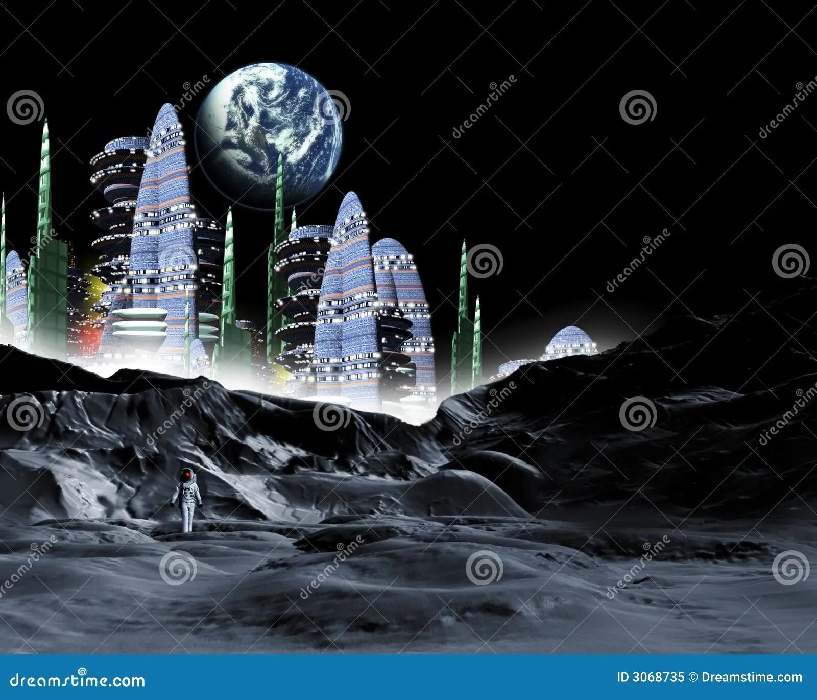 Moon City Stock Illustration Illustration Of Tourism