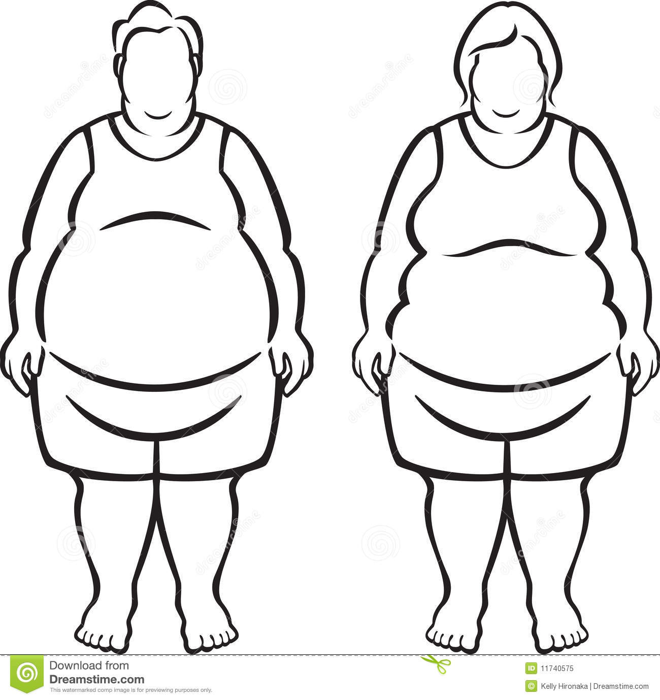 Morbidly Obese People Royalty Free Stock Photo