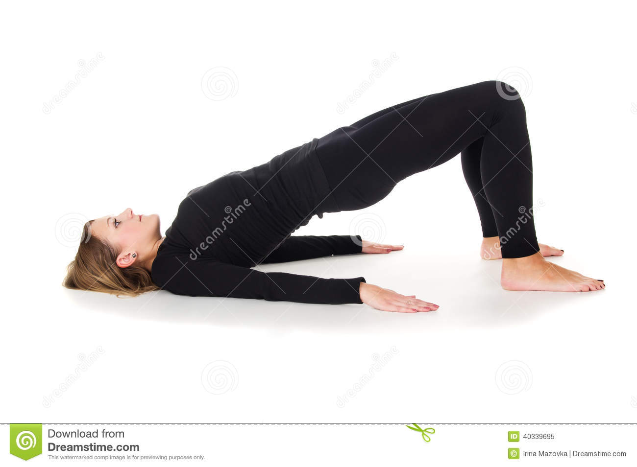 Morning Warm Up The Girl Does Exercises Stock Image