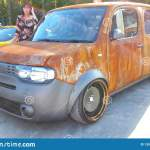 Moscow Summer 2018 Nissan Cube Tuned Rat Look Style In Rust Stay On The Street Wide Wheels With Fenders Car Tuned Editorial Stock Photo Image Of Bagged Sunny 135550428