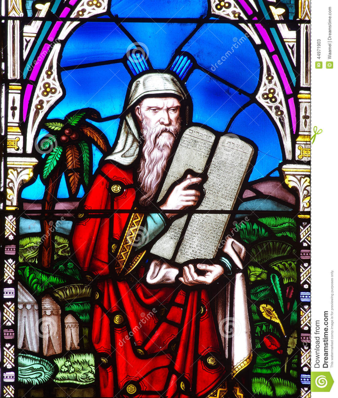 Moses And The Ten Commandments Stock Image