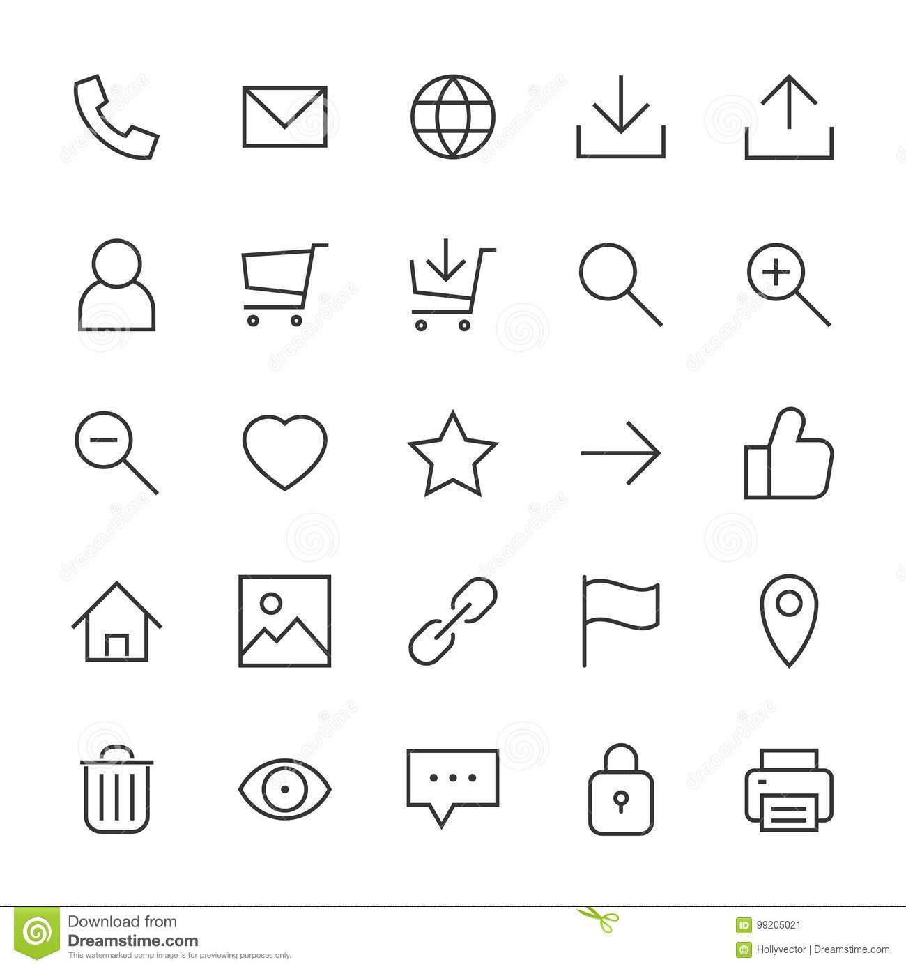 Webdesign Icons Stock Image