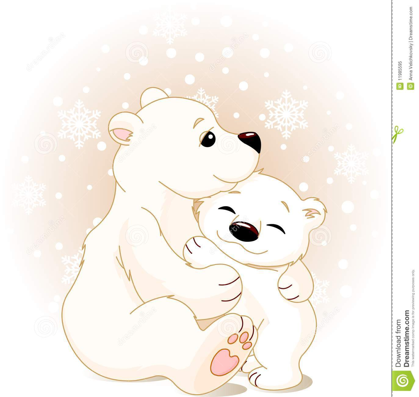 Mother And Baby Bear Stock Illustration Illustration Of