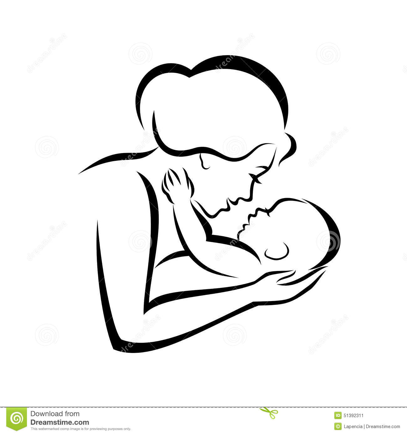 Mother And Baby Stock Vector Illustration Of Design