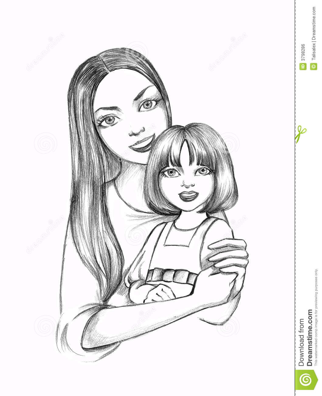 Mother With Daughter Stock Illustration Image Of Love
