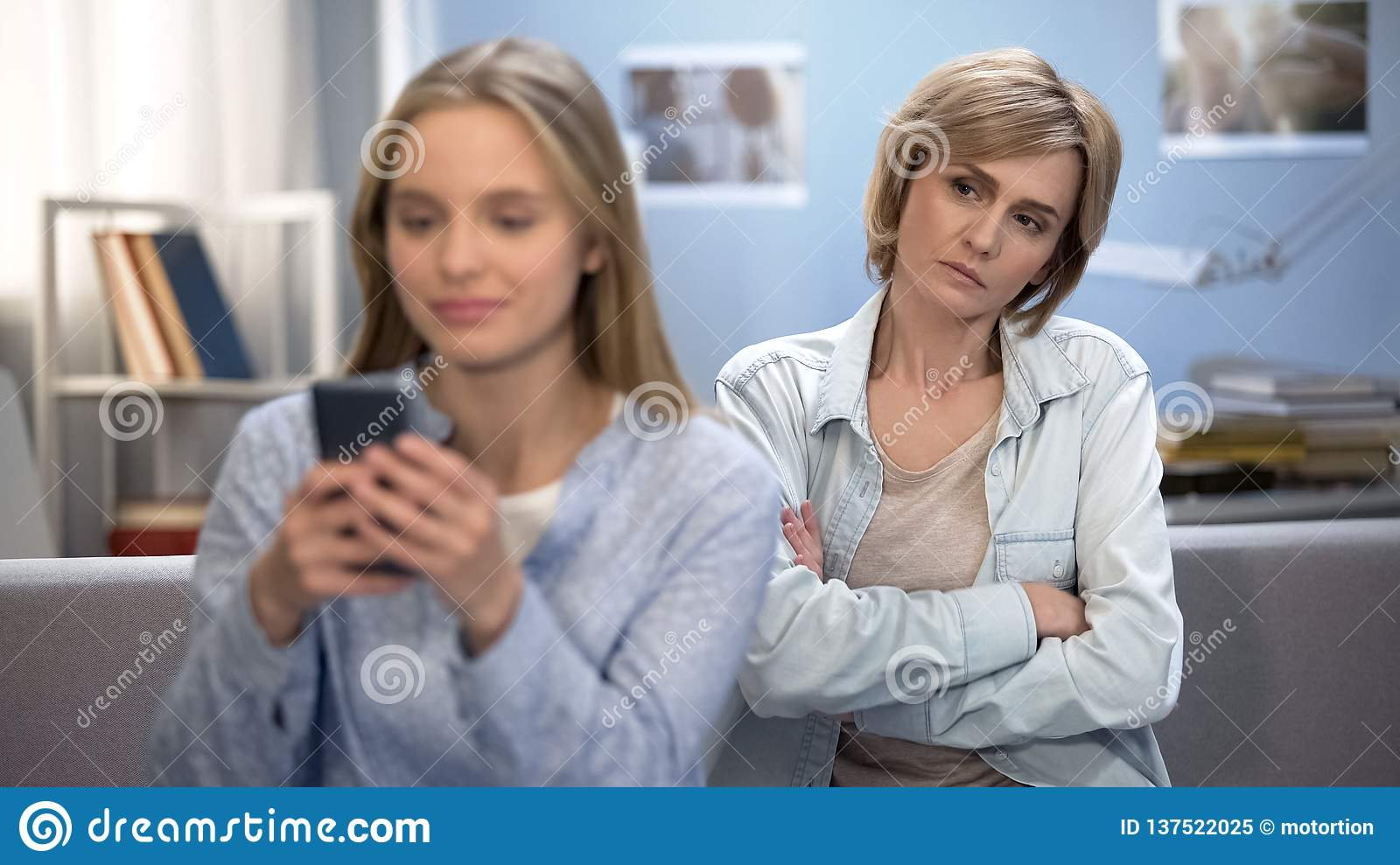 Mother Feeling Worried About Daughter Future Family