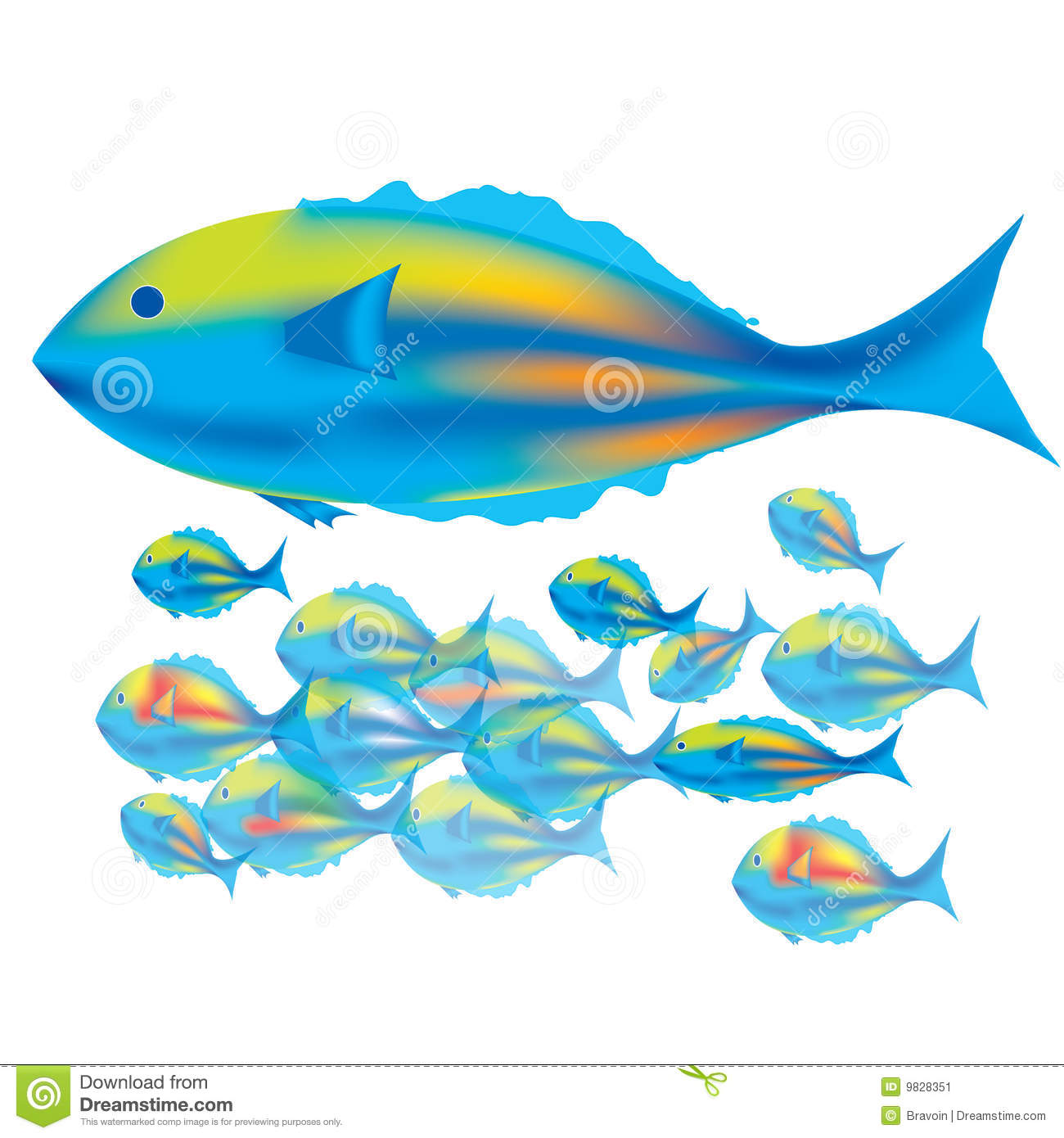 Mother Fish Amp Baby Fishes Stock Image