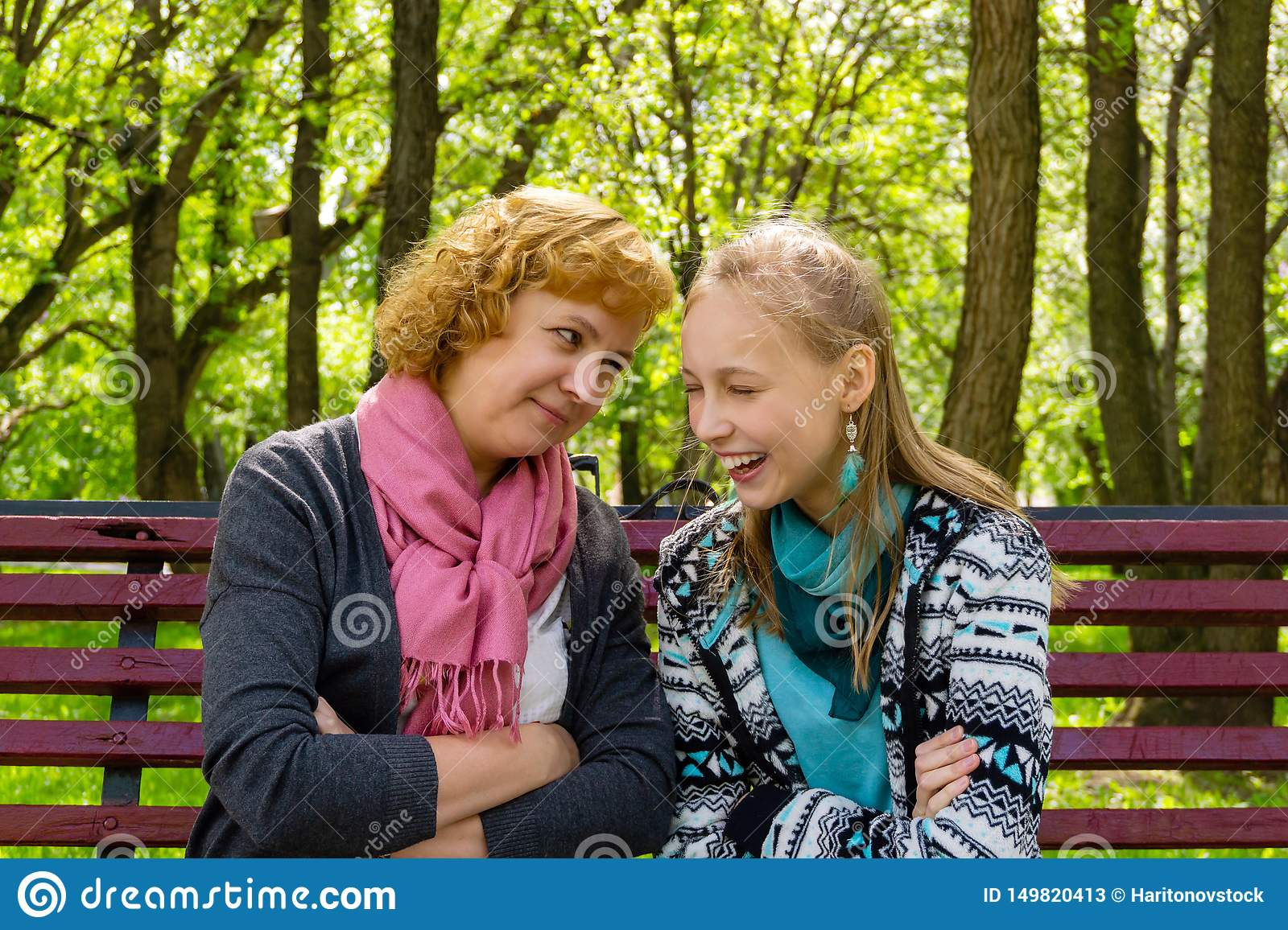 Communication Between Mother And Daughter Stock Image