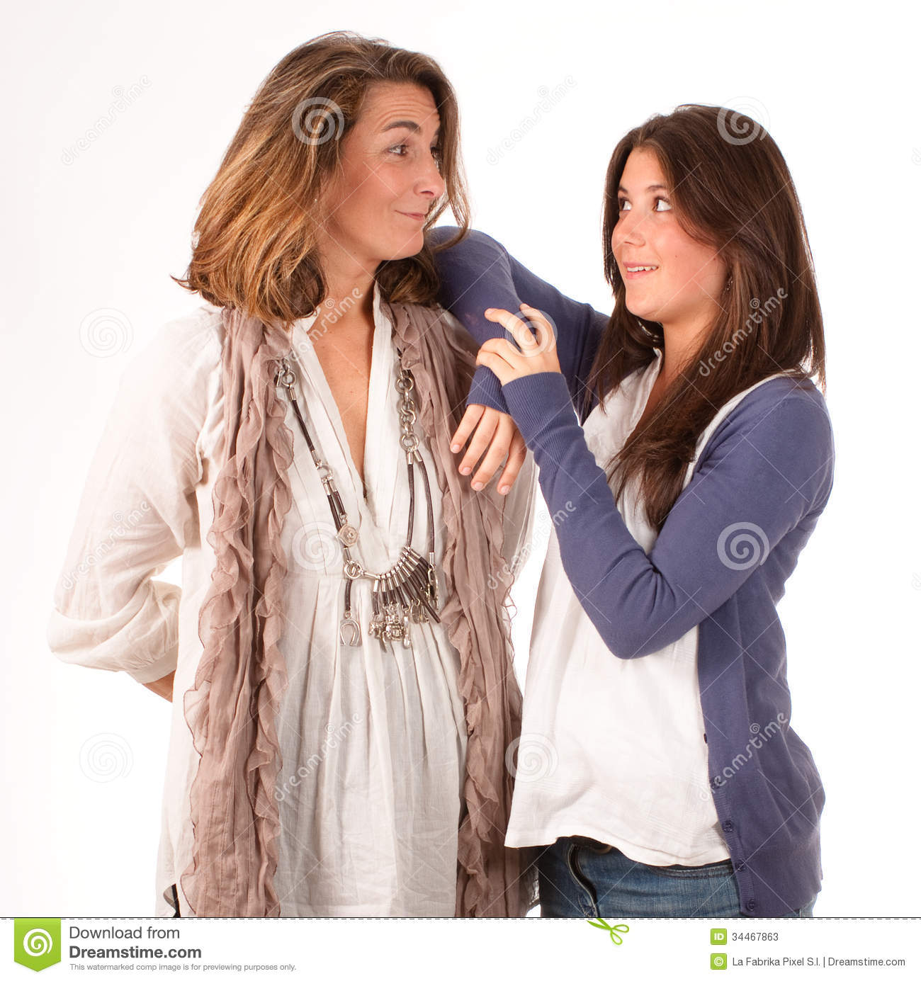 Mother And Teenage Daughter Communication Stock Image