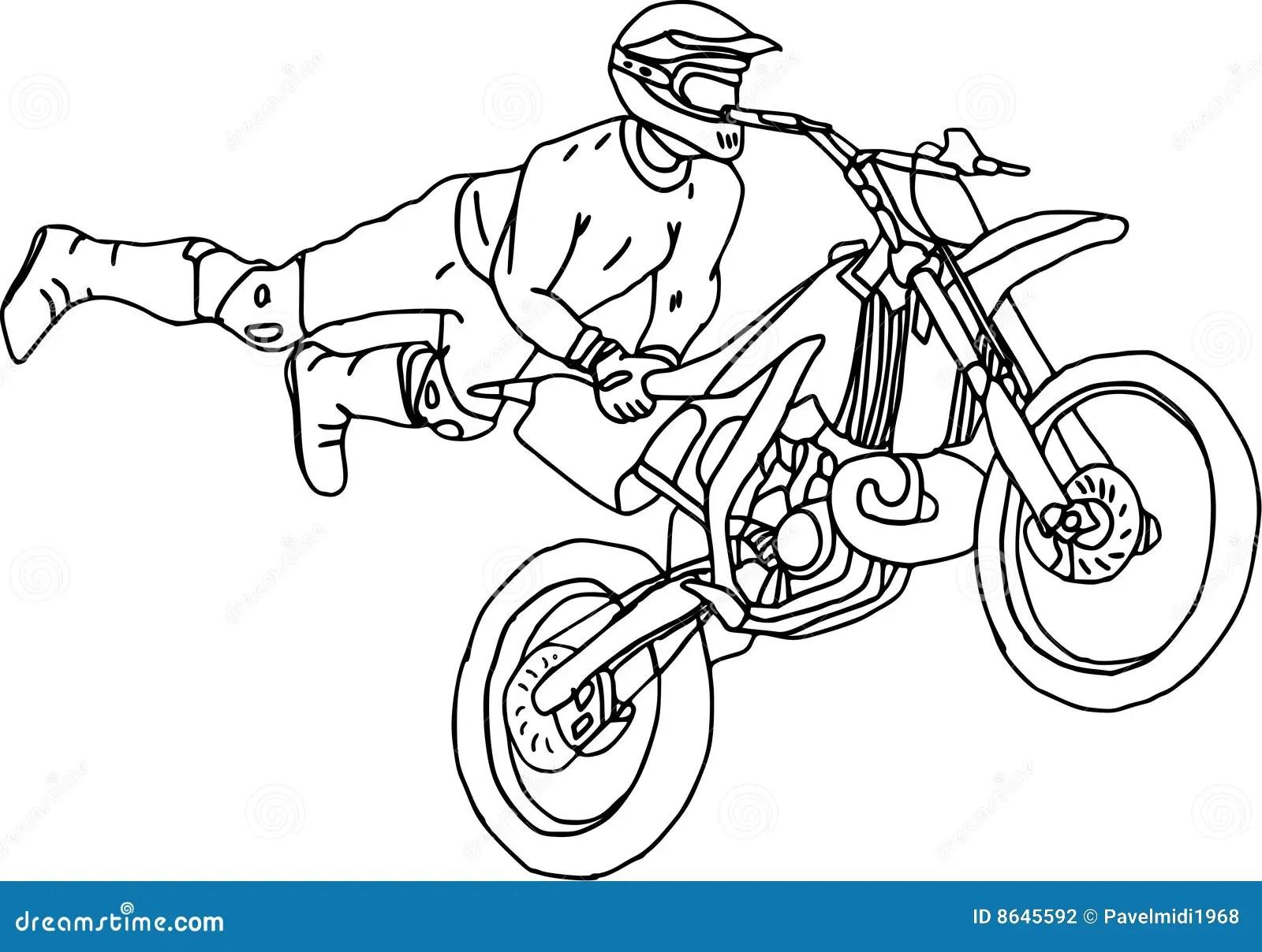Moto Freestyle Stock Vector Illustration Of Freestyle 8645592
