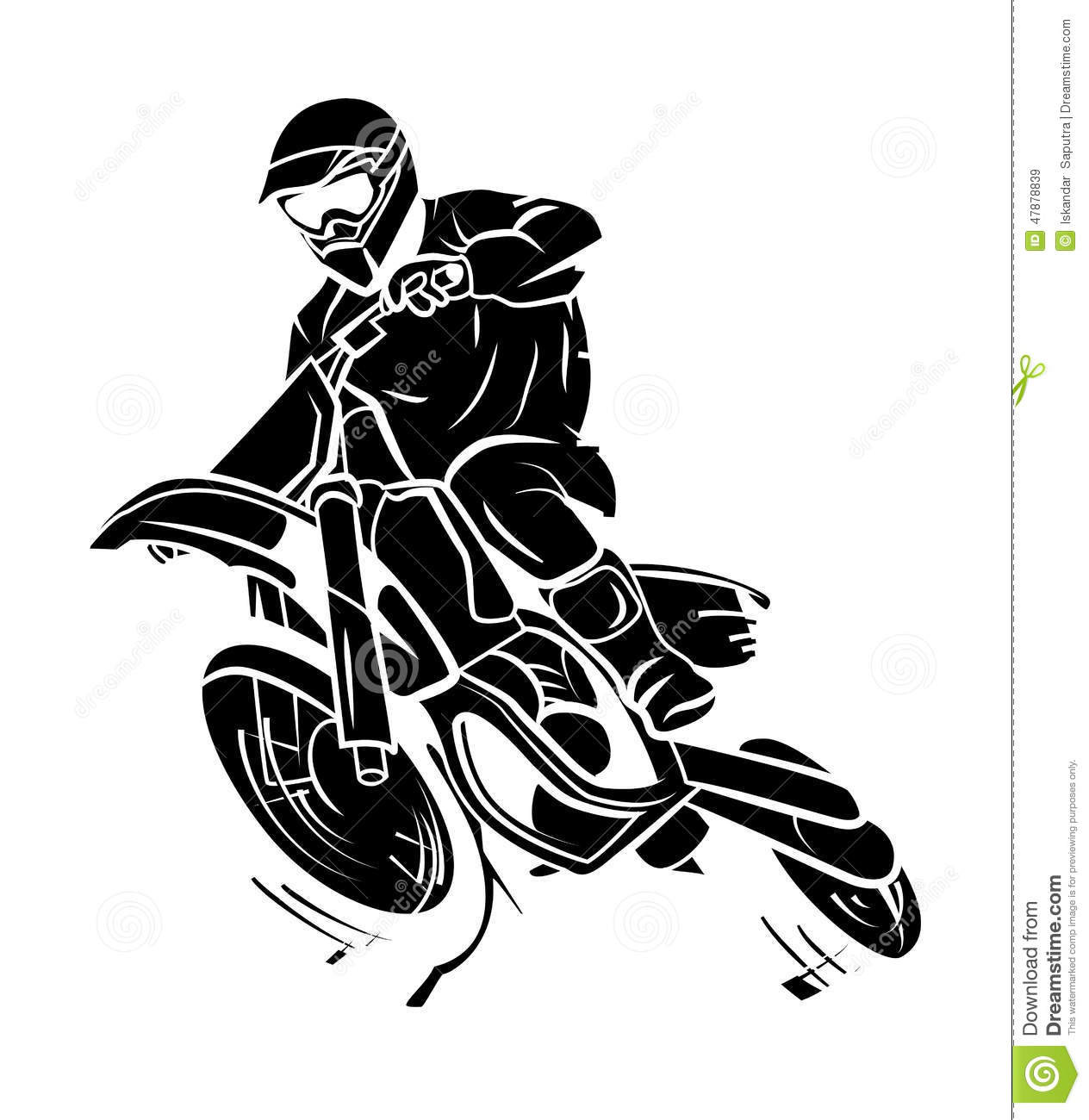 Moto Trail Stock Vector Illustration Of Extreme