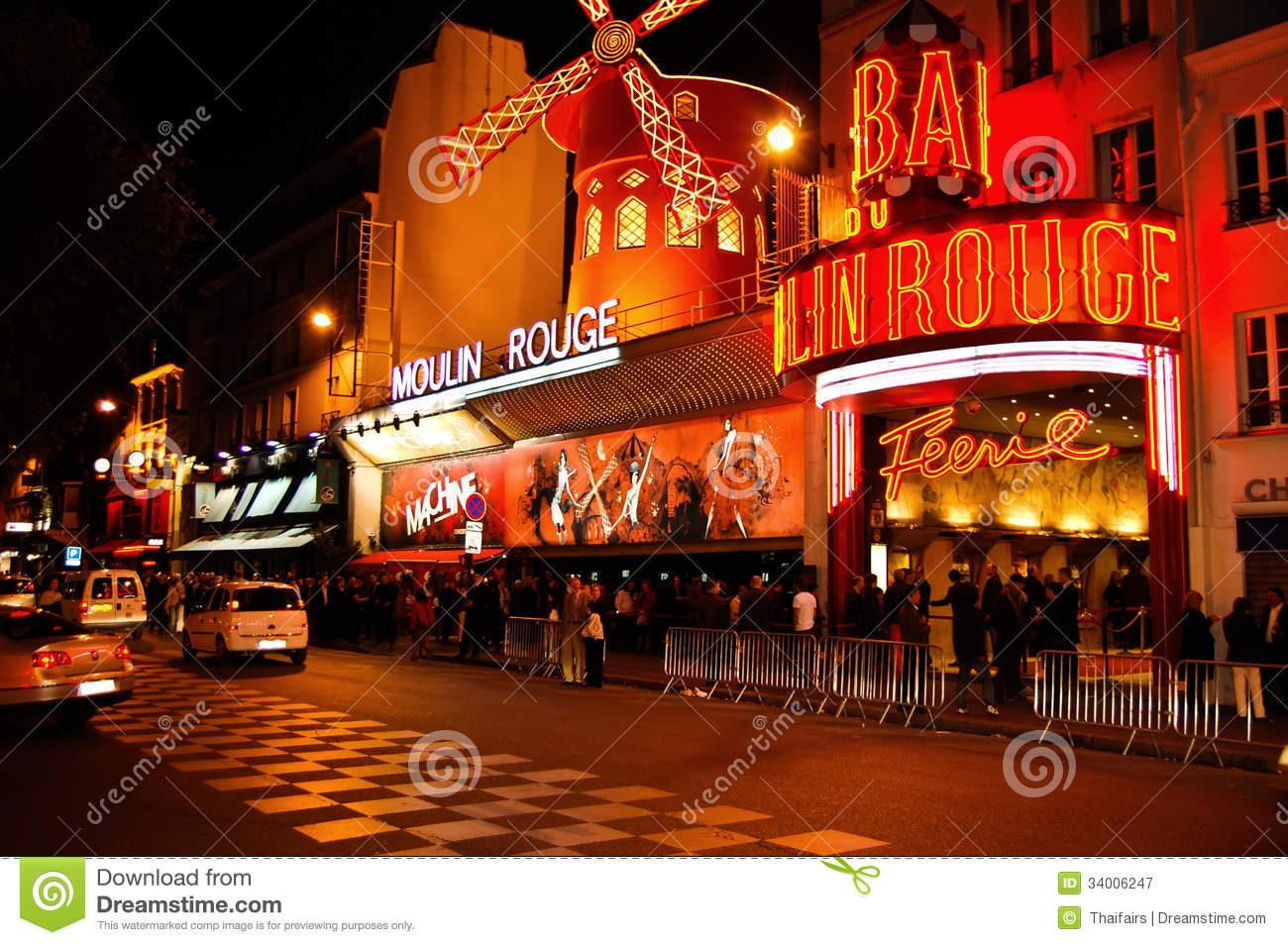 Moulin Rouge At Paris In France Editorial Photography