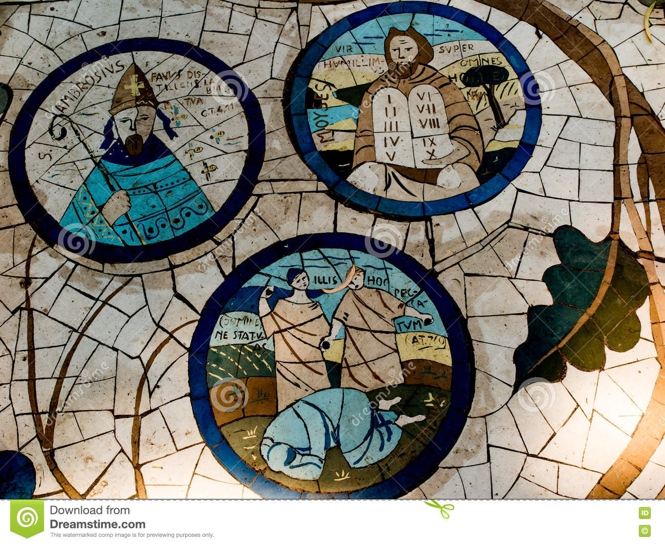 Mount Of Beatitudes Israel July 9 Mosaic In The