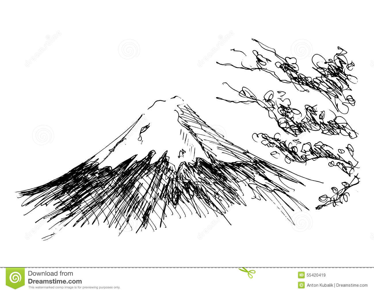 Mount Fuji Stock Vector Illustration Of Japanese
