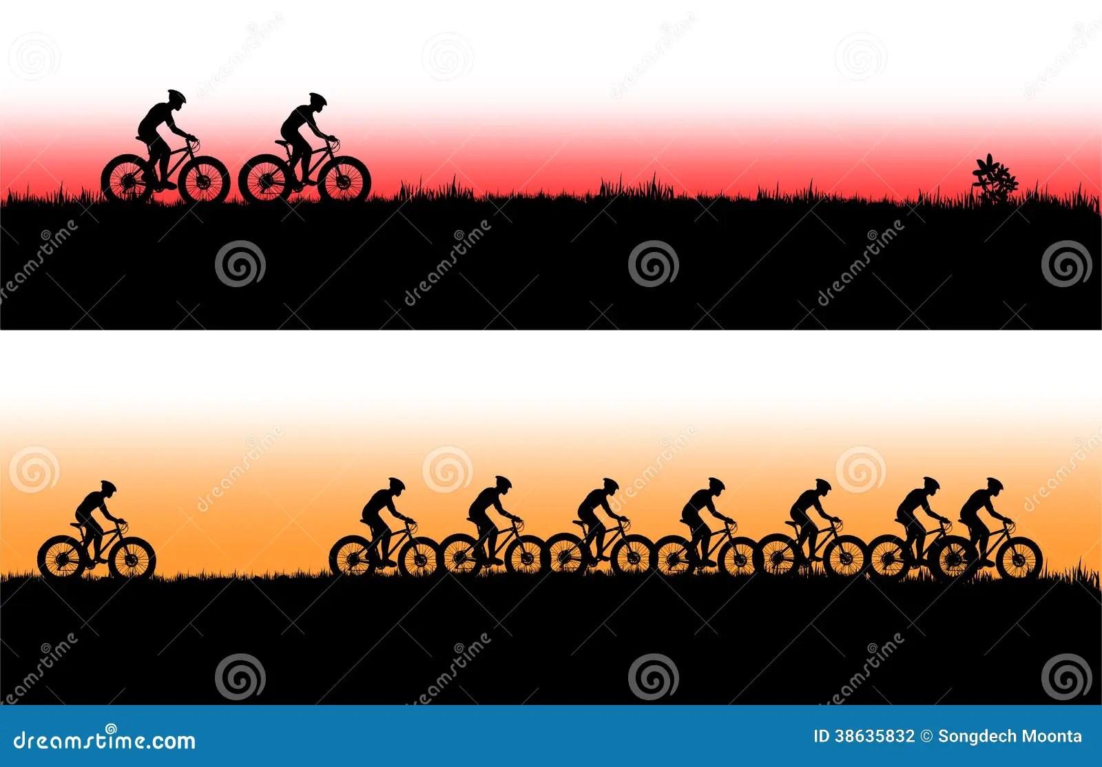 Mountain Bike Banner Stock Photography Image 38635832