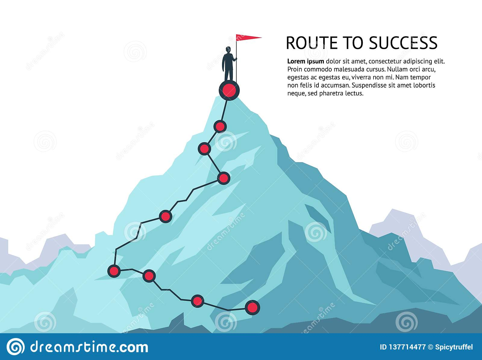 Mountain Journey Path Route Challenge Infographic Career