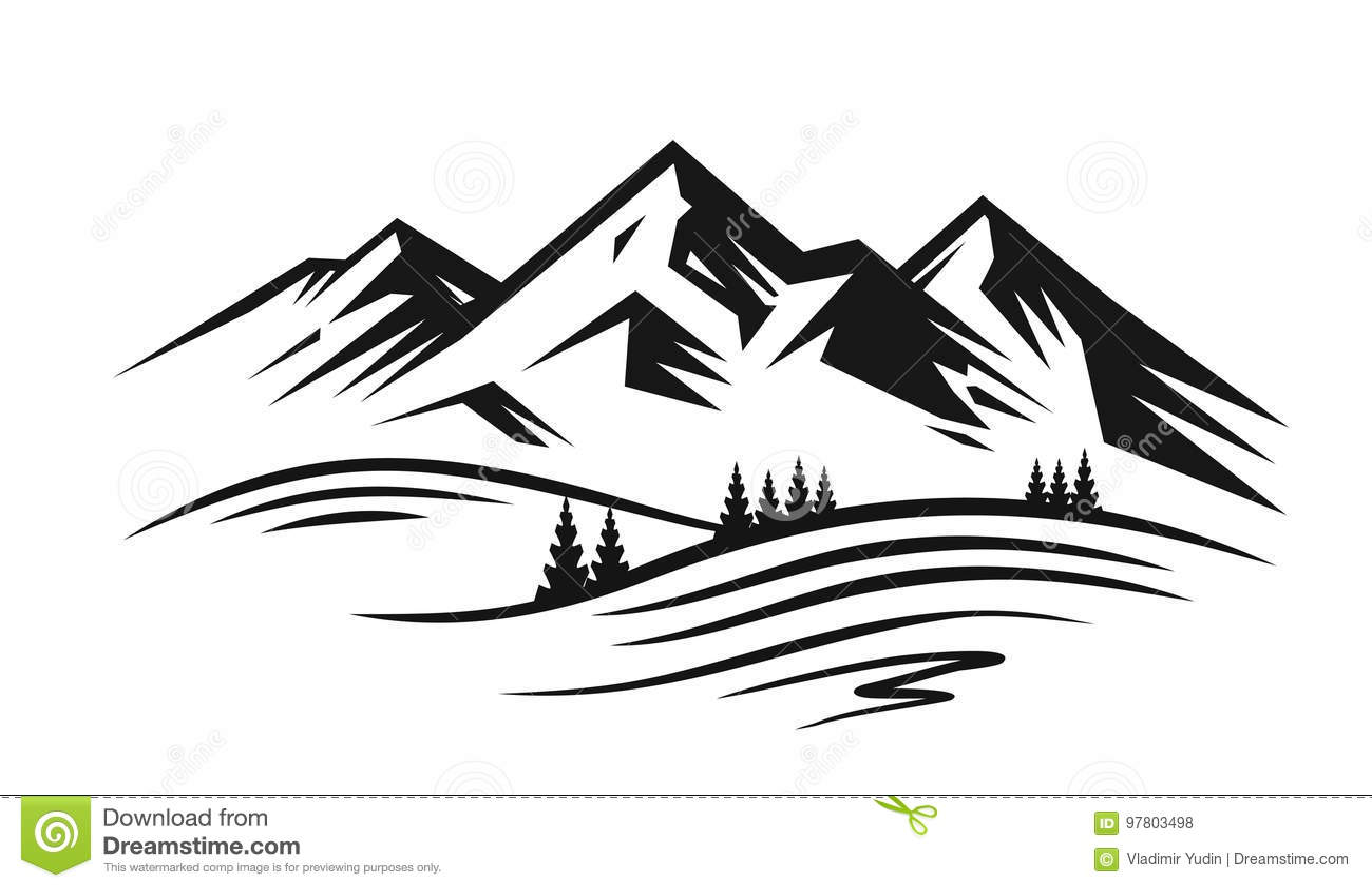 Mountain And Landscape Vector Stock Vector