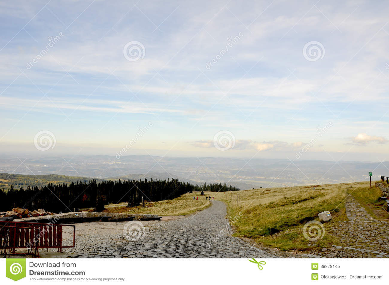 Mountain Ranges Of The Europe Stock Image