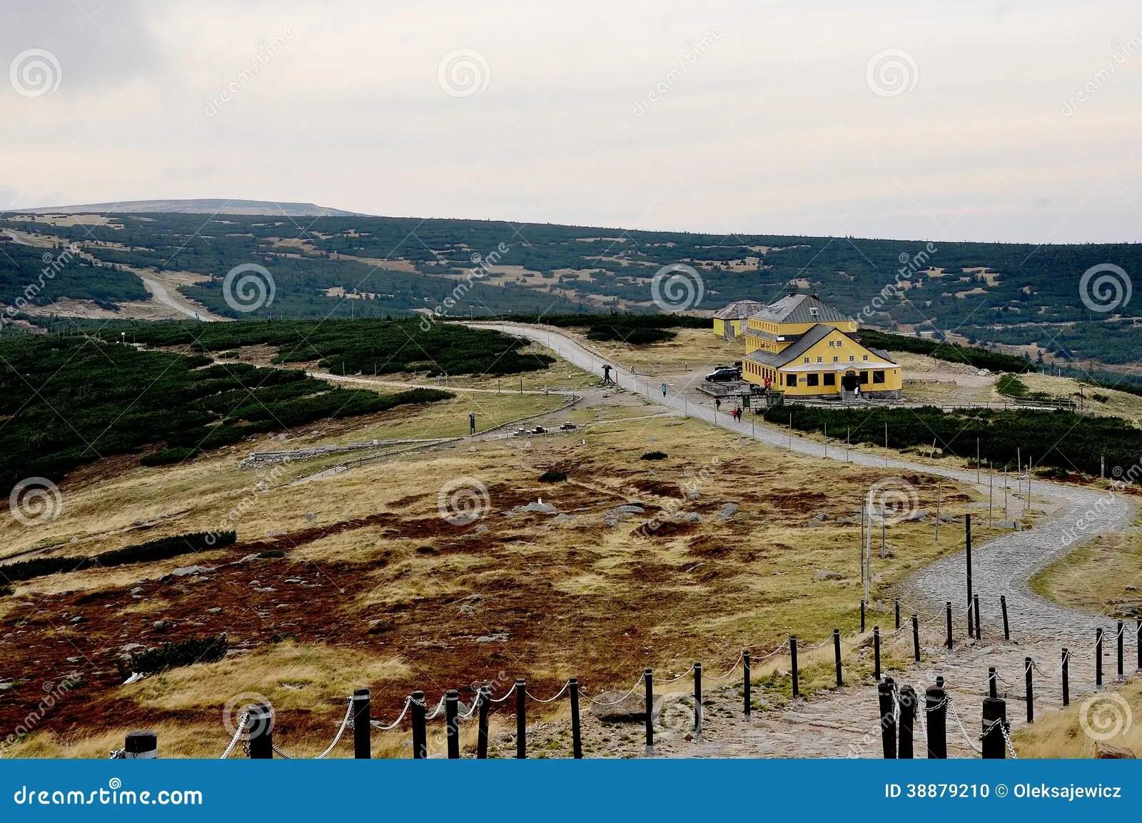 Mountain Ranges Of The Europe Stock Photo