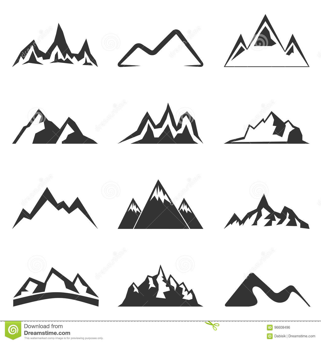 Mountain Shapes For Logos Stock Vector Illustration Of