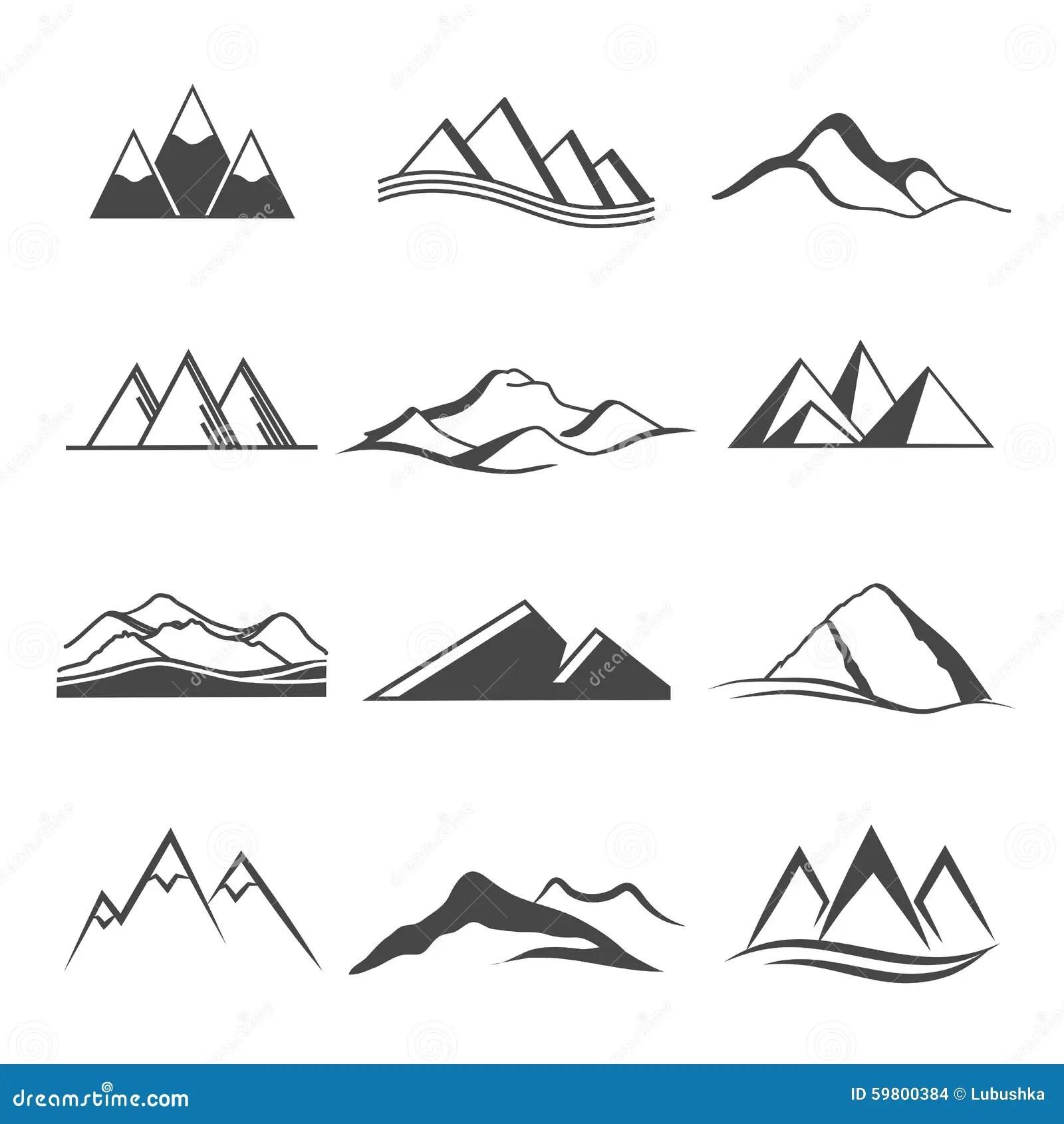 Mountains Logo Travel Stock Vector Illustration Of