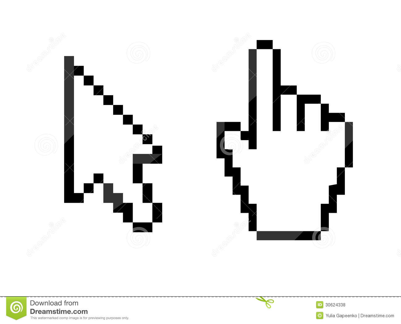 Mouse Hand And Arrow Cursor Vector Illustration Royalty
