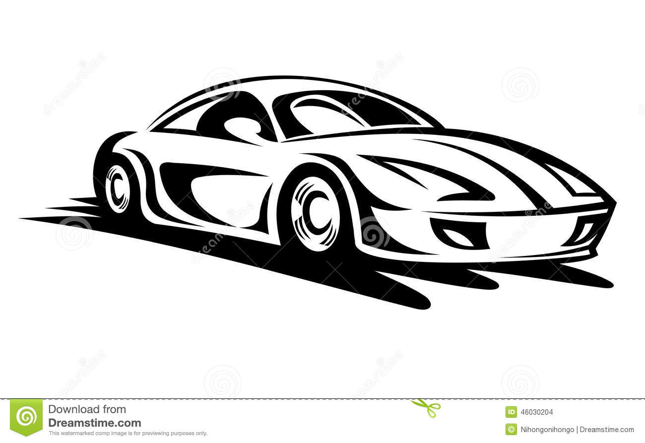 Moving Car Stock Vector