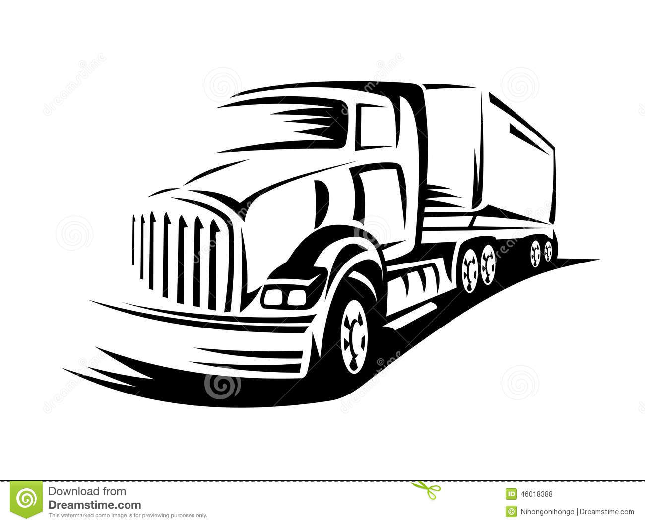 Moving Truck Stock Vector Image Of Isolated Motion