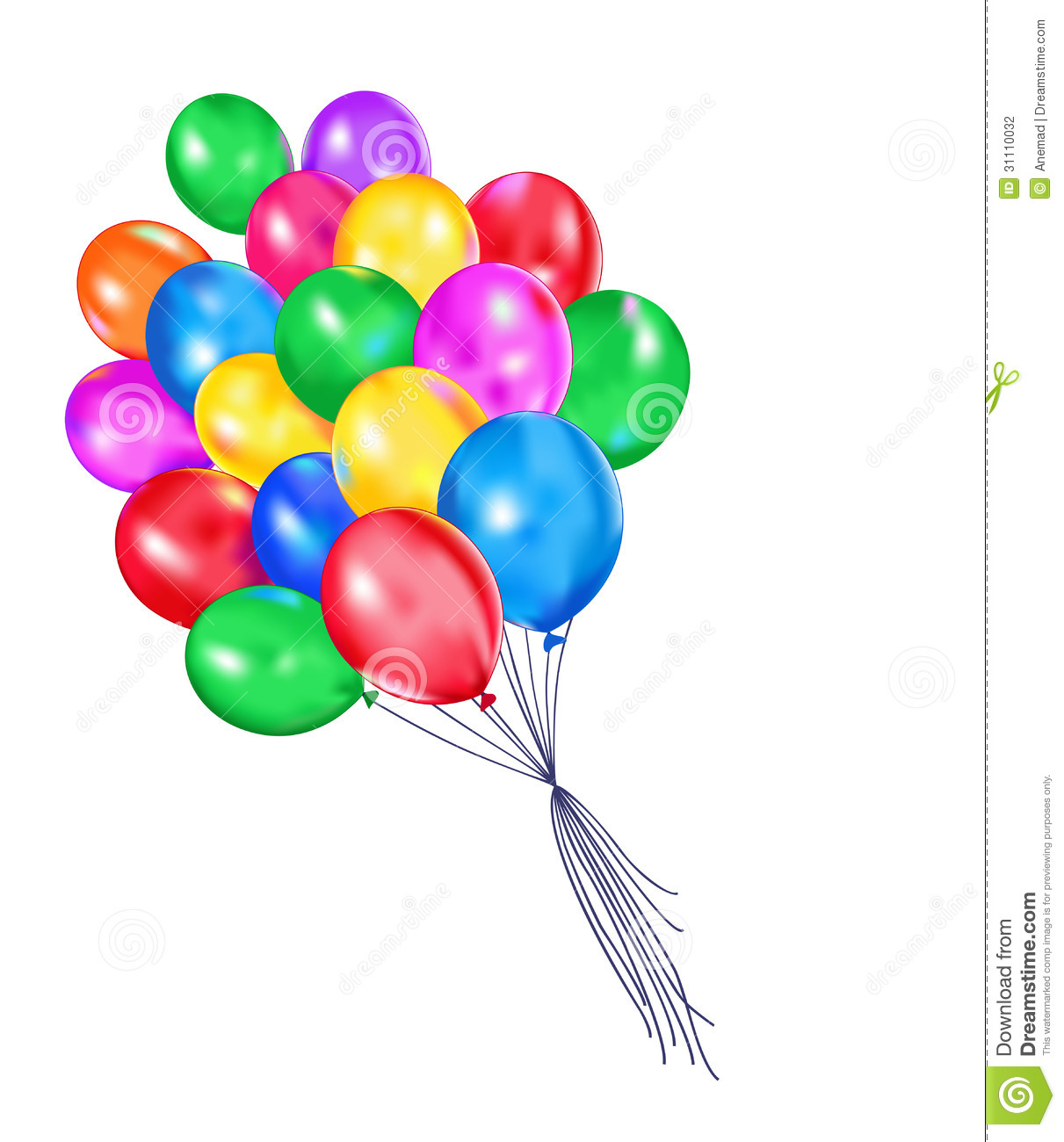 Multi Colored Balloons Stock Photo Image Of Background