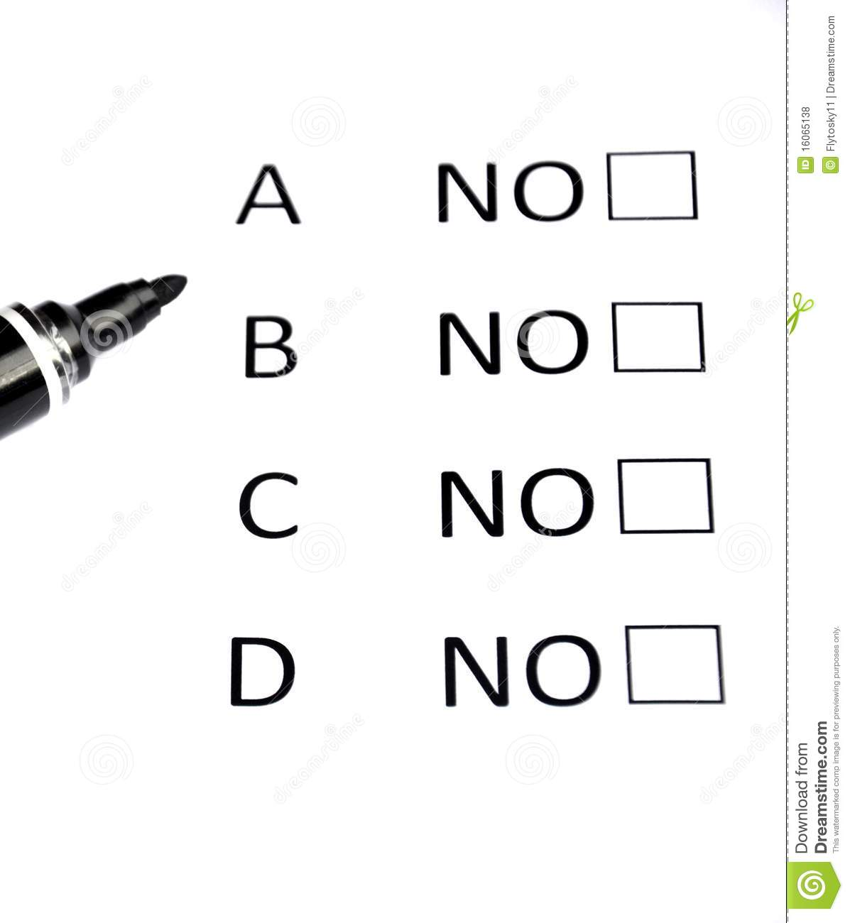 Multiple Choice Stock Photo Image Of Pupil Certainty