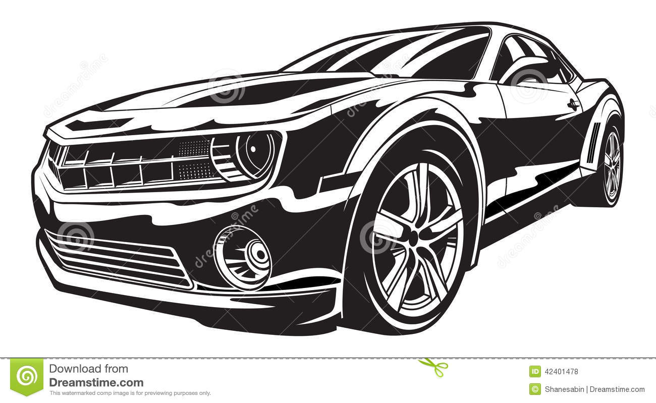 Muscle Car Stock Illustration Image Of Race Rims Tire