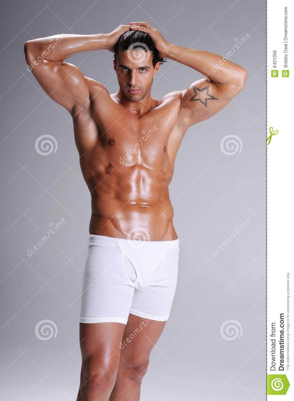 Muscle Man In Boxer Briefs Stock Photo Image Of