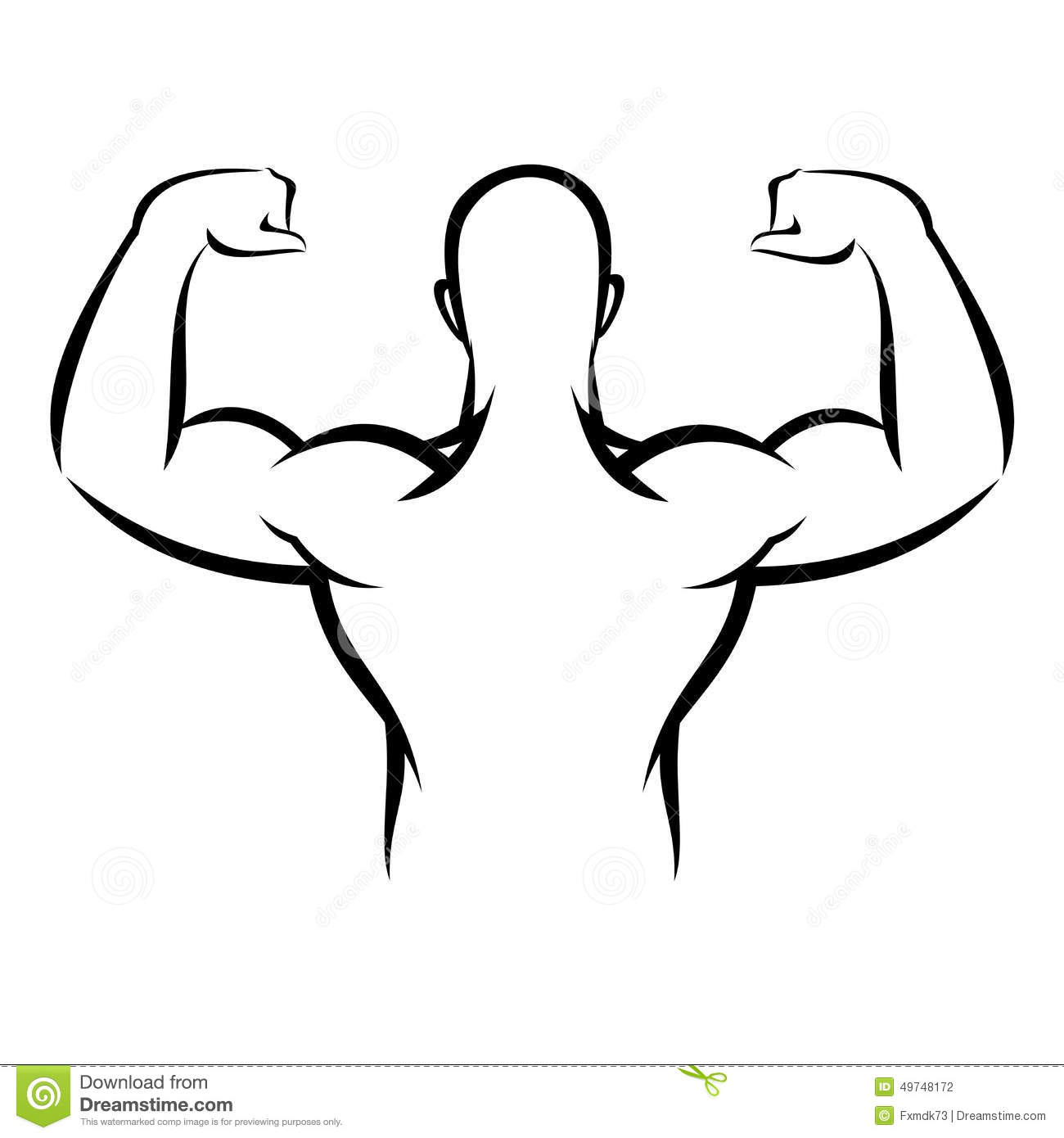 Muscle Man Stock Vector Image Of Athletic Muscles