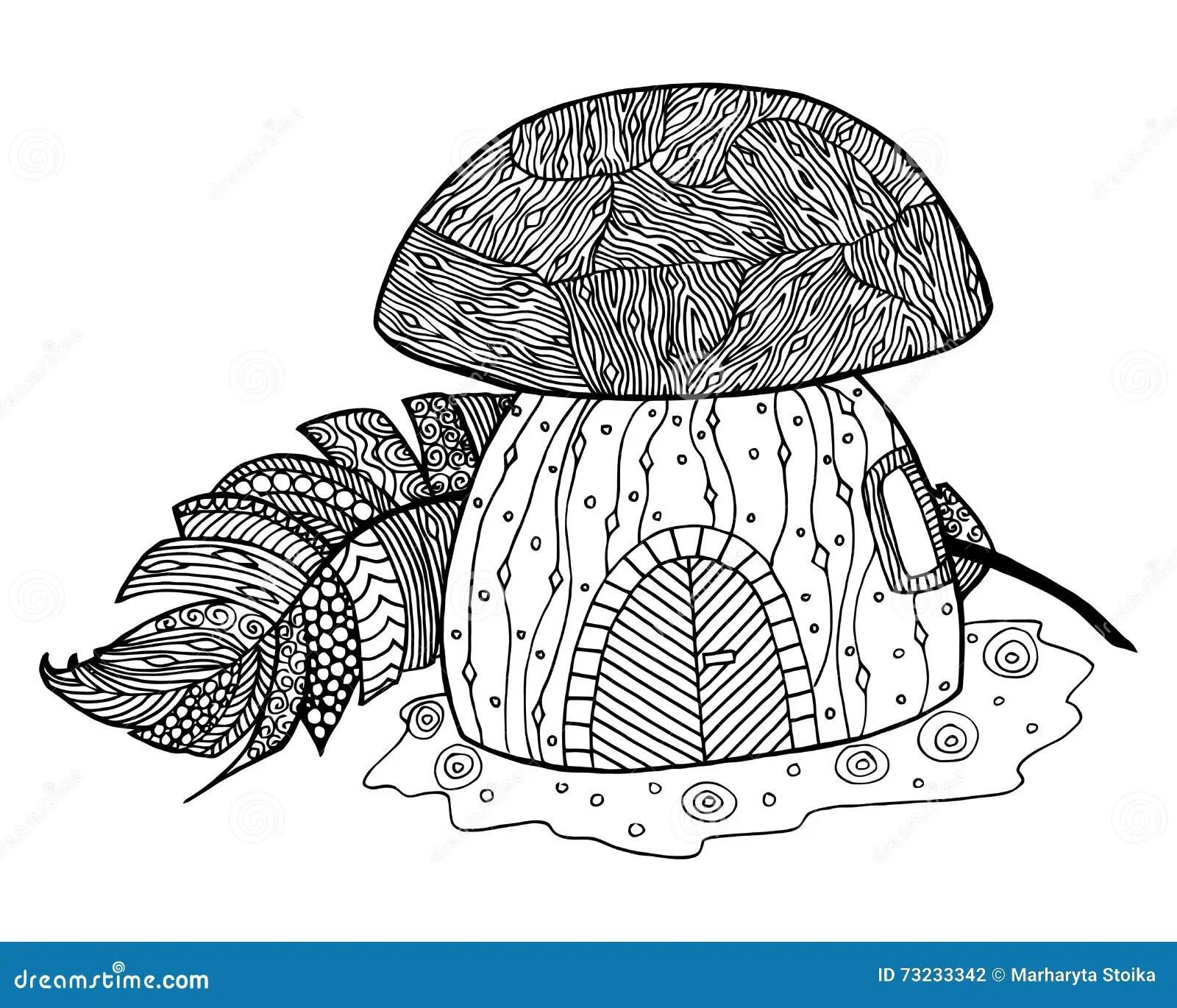 Mushroom Vector Fungus Zen Tangle And Zen Doodle Fungi