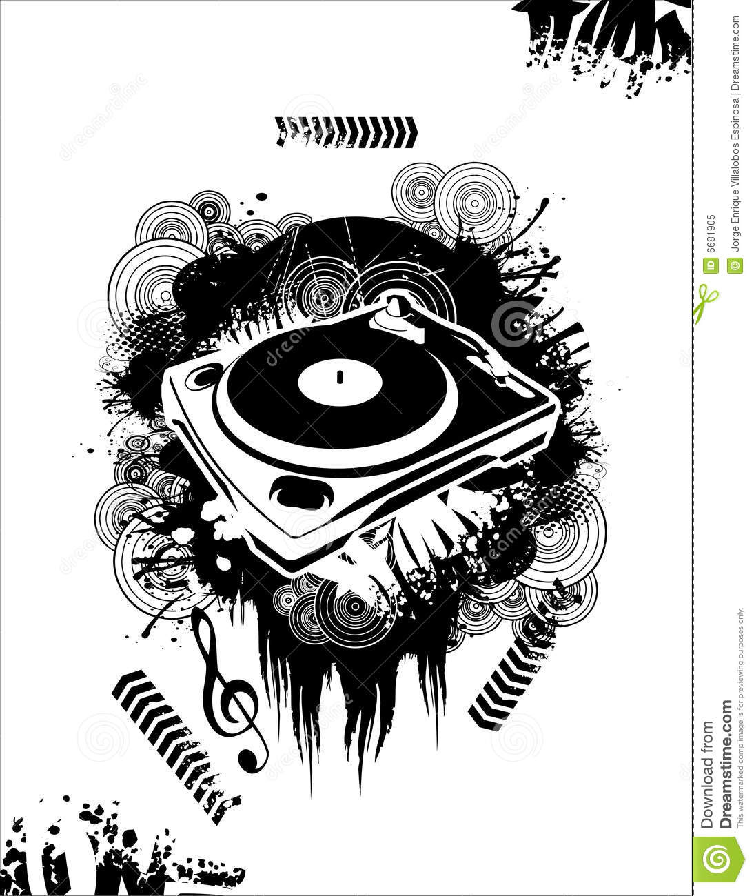 Music Dj Vector Stock Vector Illustration Of Dirty Party