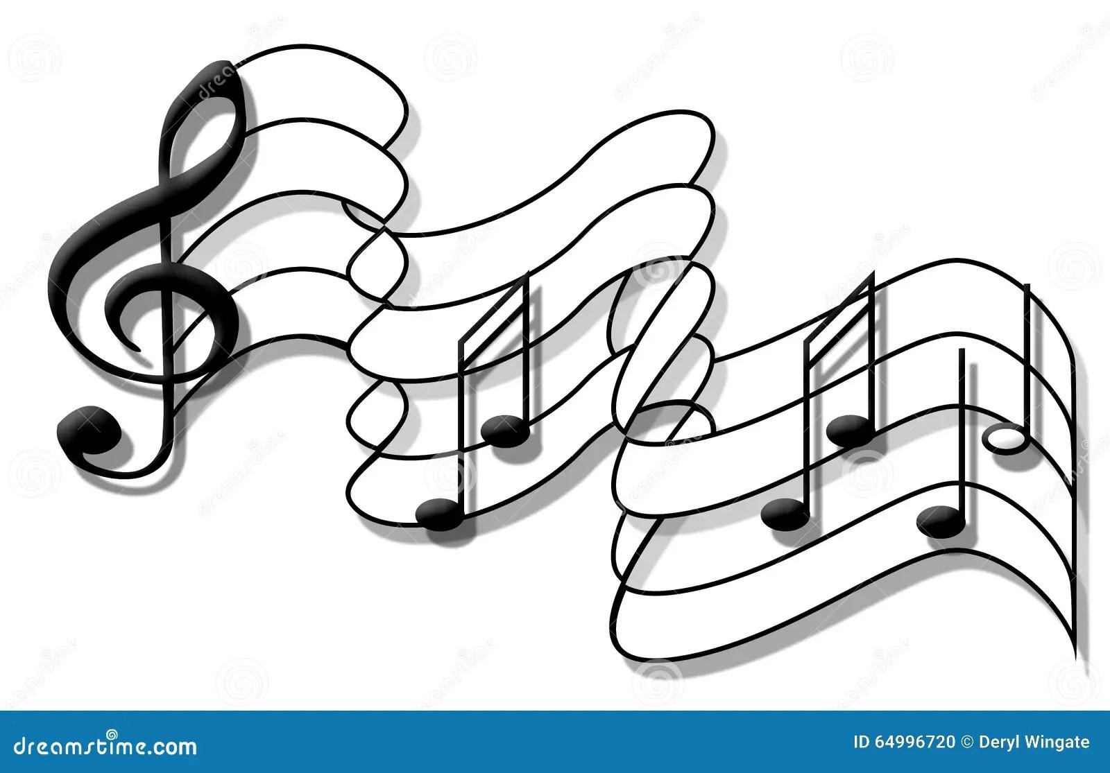 Music Note Flag Stock Illustration Illustration Of