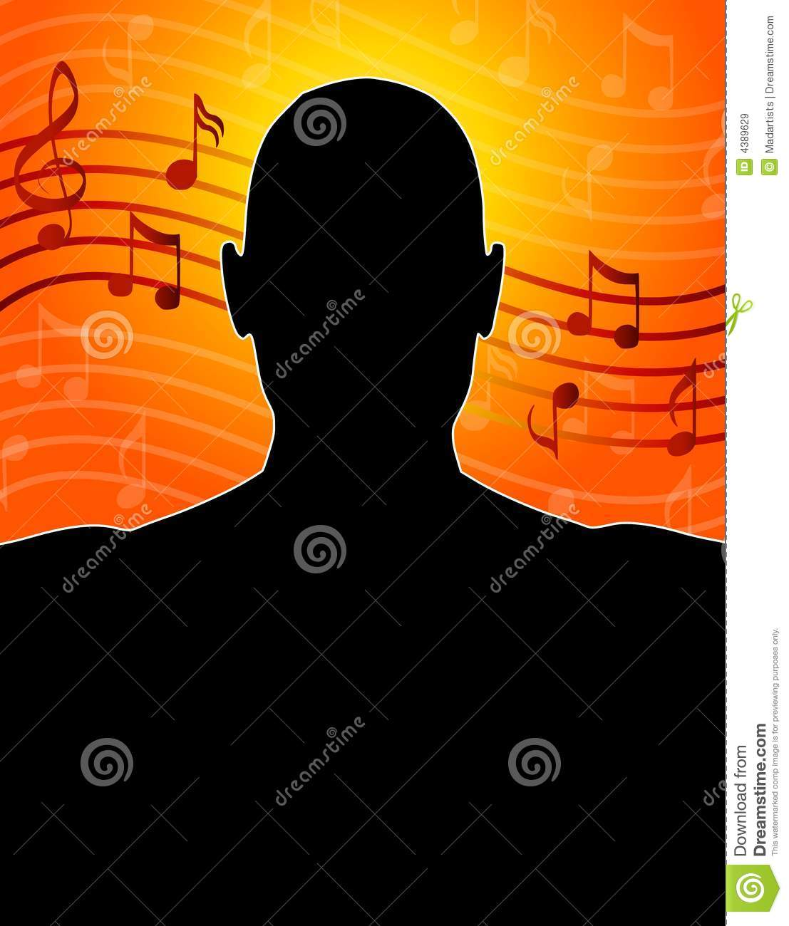 Red Music Notes Gold And