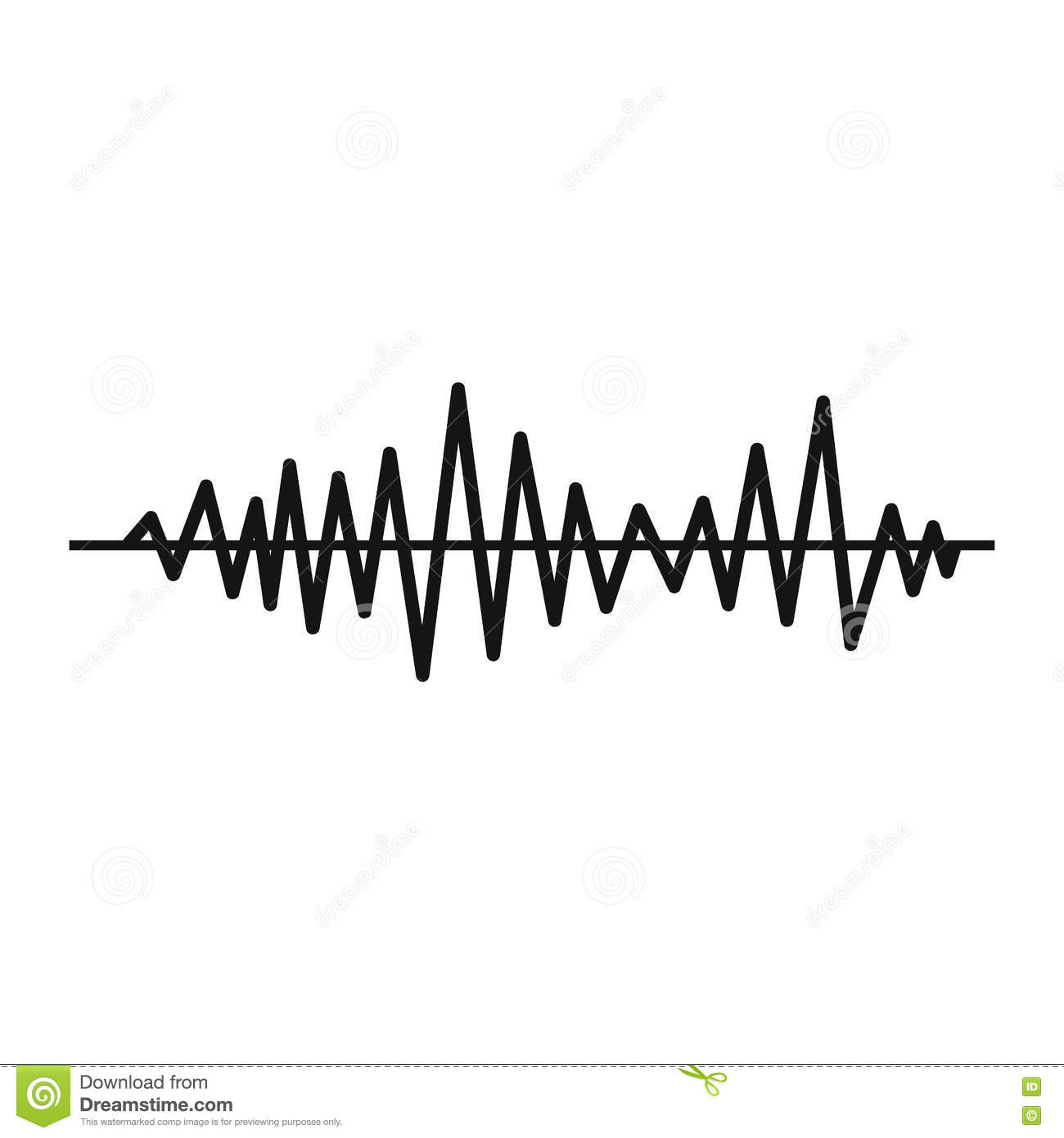 Music Sound Waves Icon Simple Style Stock Vector