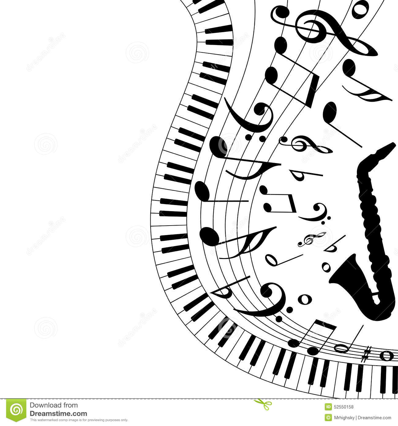 Musical Background Stock Vector