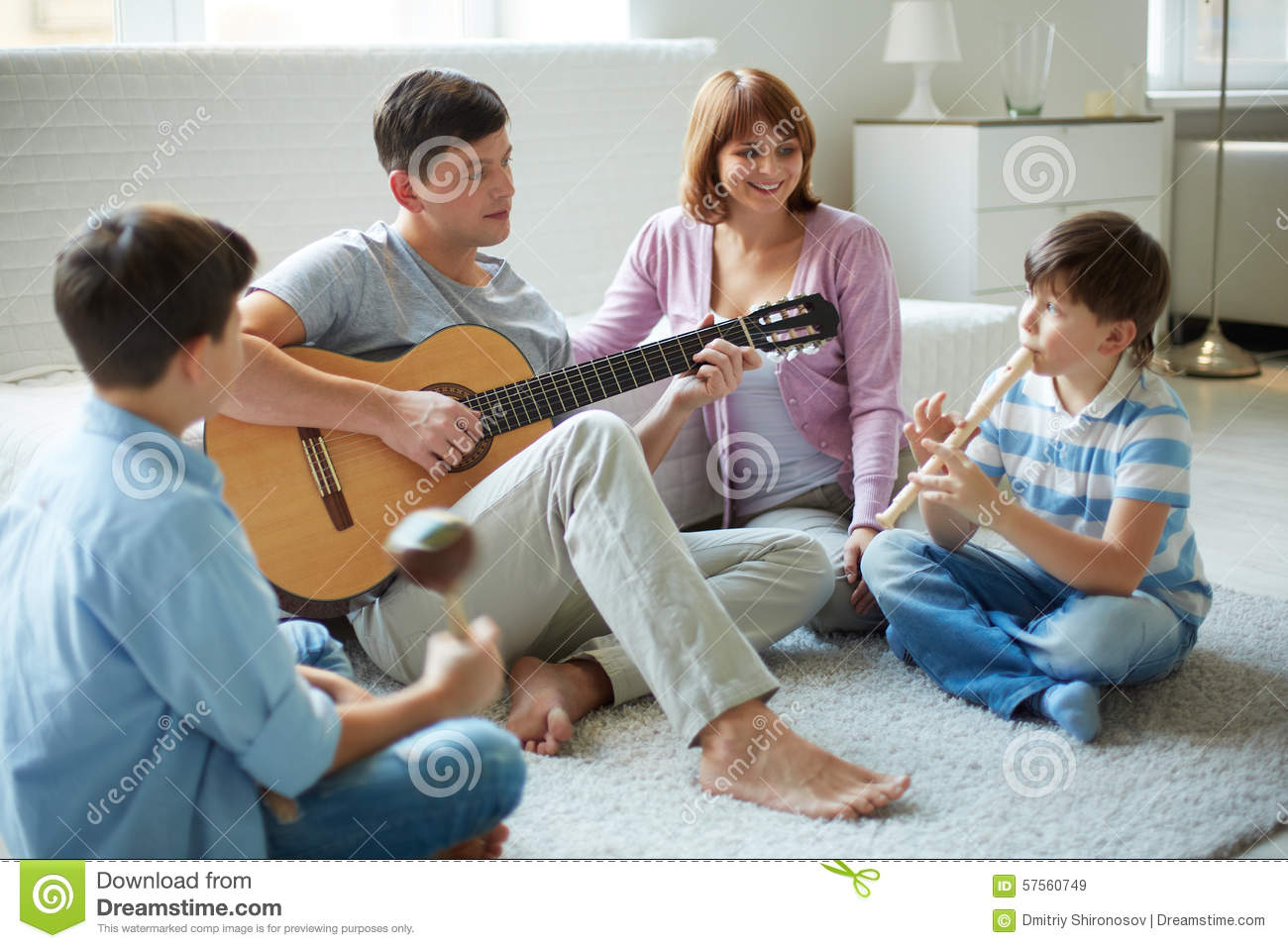 Musical Family Stock Image Image Of Pipe Adolescent
