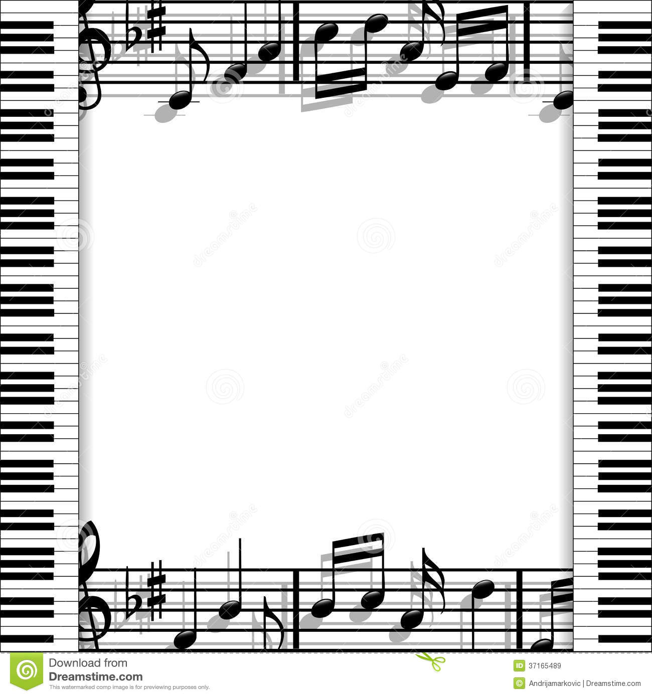 Musical Frame Stock Vector Illustration Of Shadow Solo