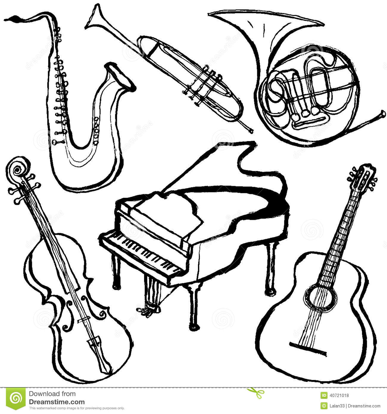 Musical Instruments Stock Vector