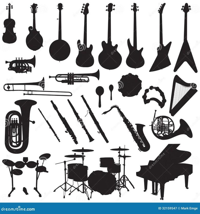 musical instruments vector stock vector. illustration of harp - 32159547