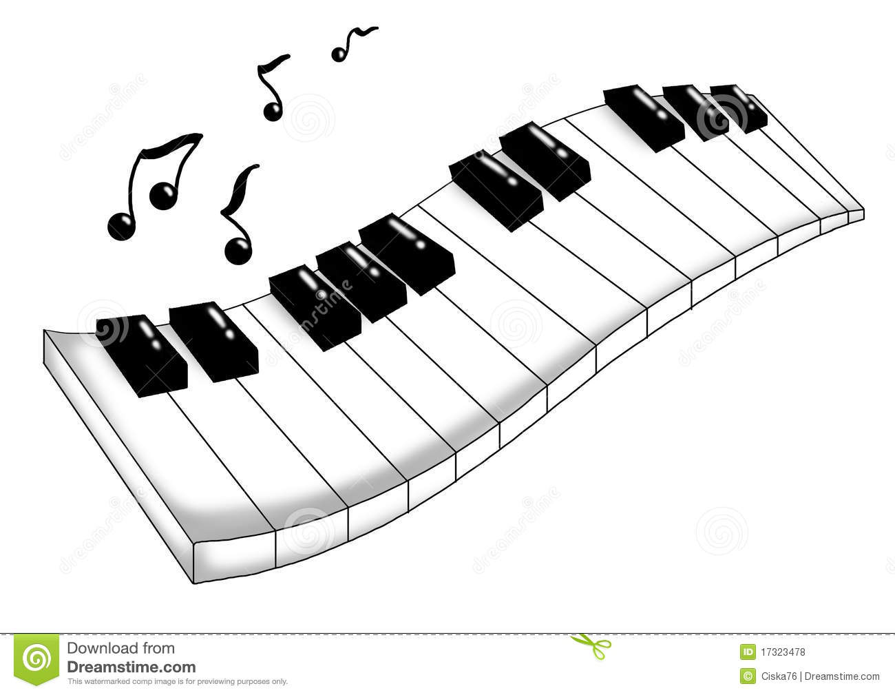 Musical Keyboard Stock Illustration Illustration Of