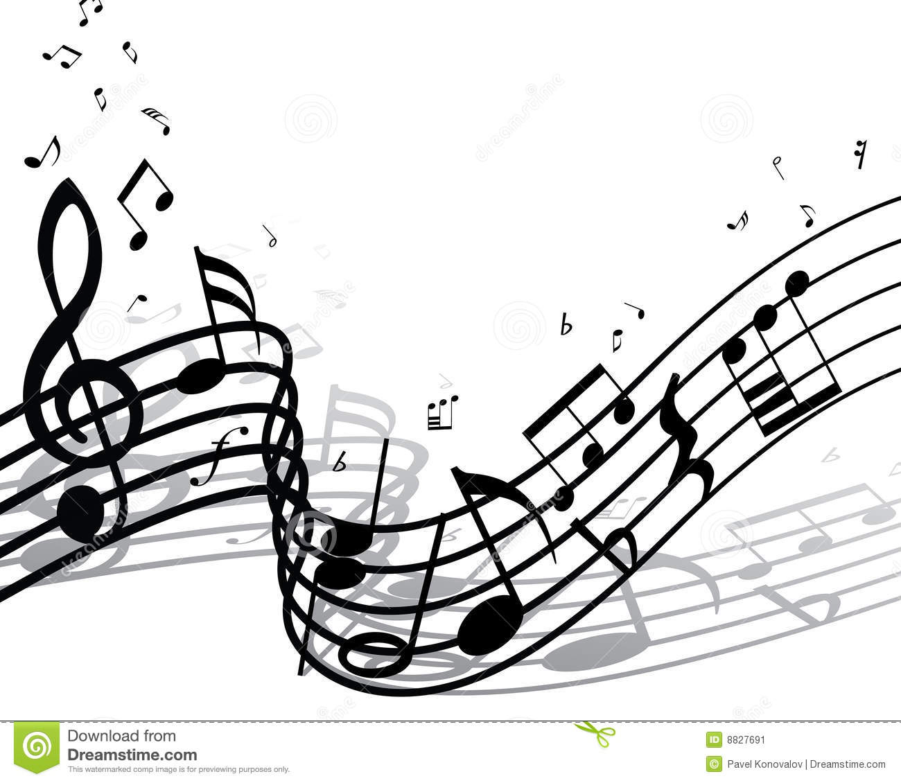 Musical Notes Staff Stock Vector Illustration Of Artistic