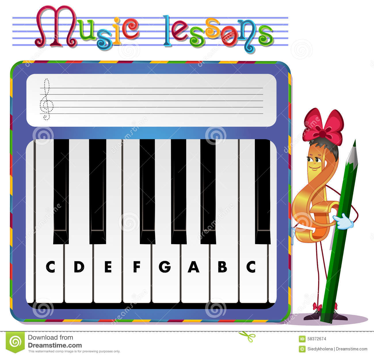 Musical Tasks Stock Illustration