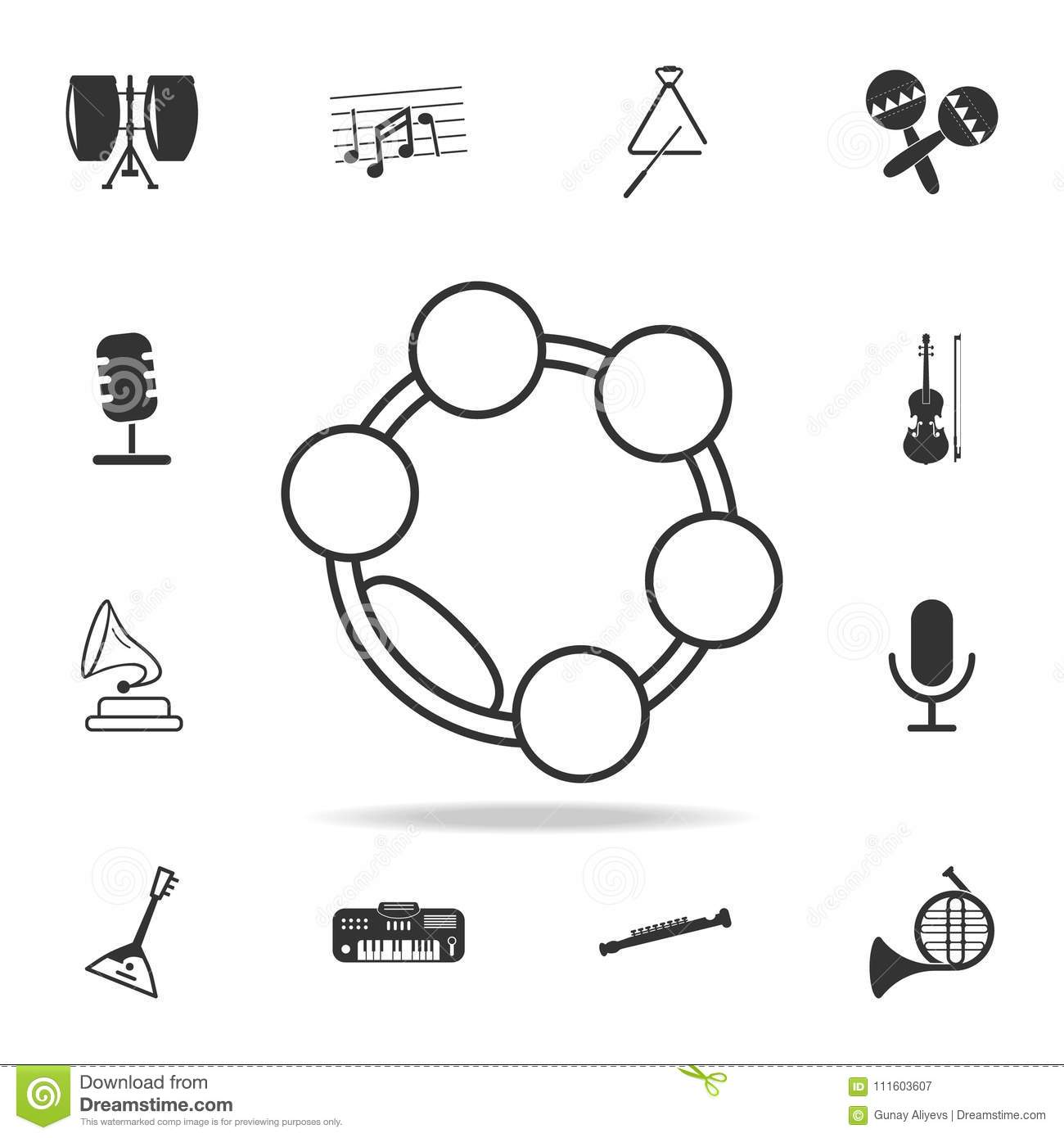 Musical Triangle Icon Detailed Set Icons Of Music