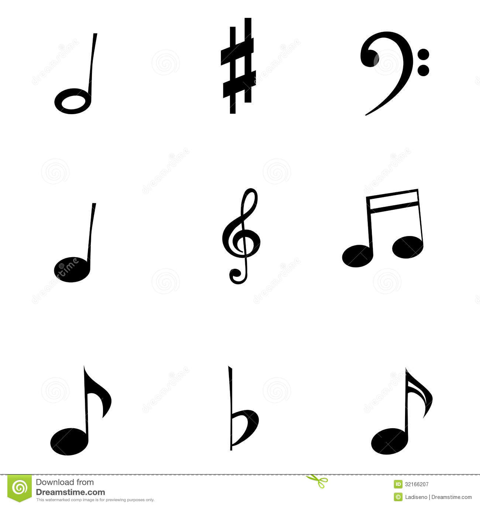Musiksymboler Vektor Illustrationer Illustration Av Symbol