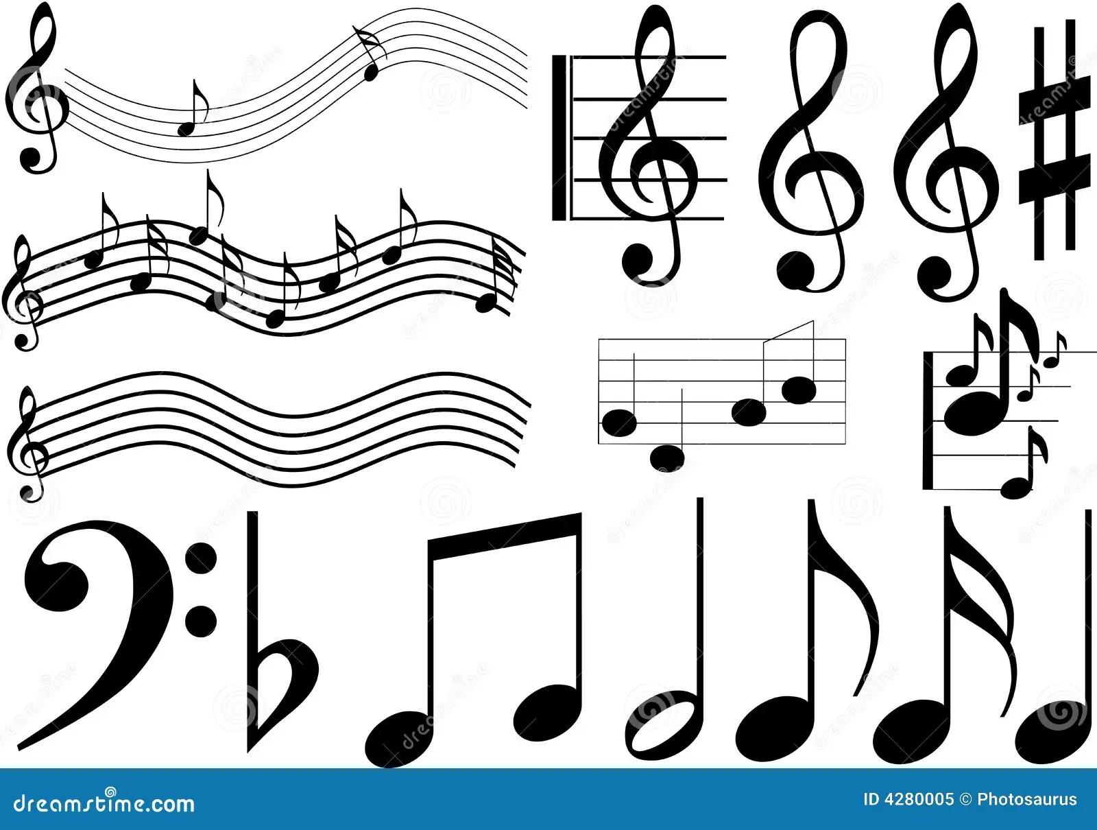 Musikzeichen Lizenzfreies Stockfoto